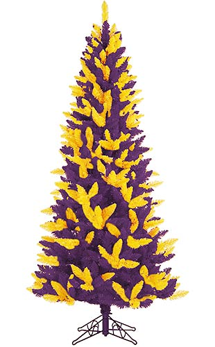 Purple Christmas Tree.6 Foot Gold And Purple Christmas Tree