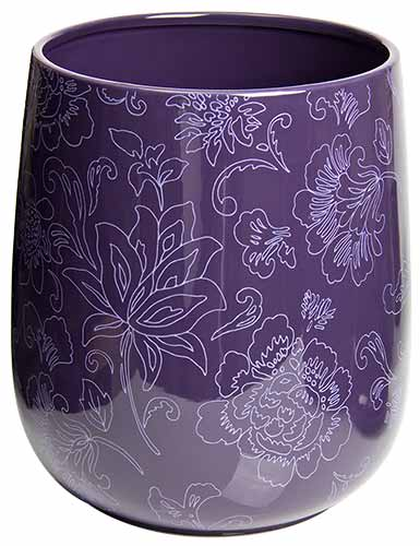 Lovely Botanica Purple Trash Can / Purple Garbage Can UP19