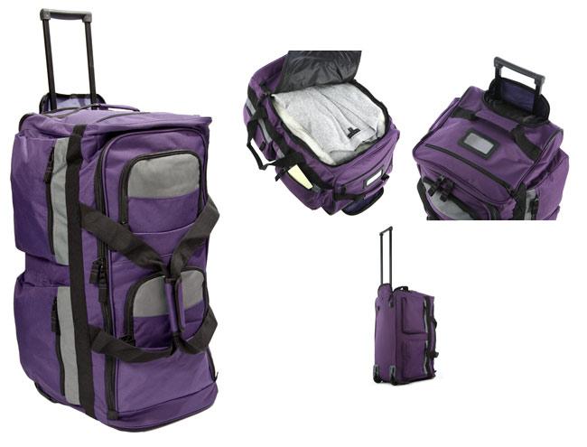 855769d8a3b4 Rolling Purple Duffel Bags