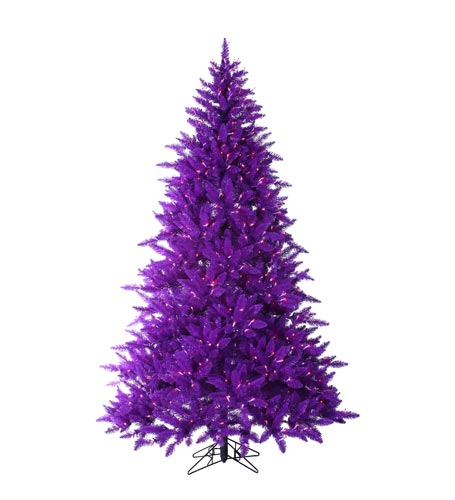 75 foot pre lit ash purple christmas tree with purple lights - Purple Christmas Tree