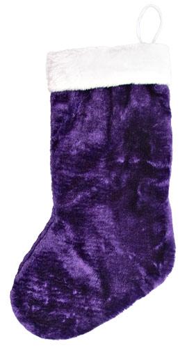 plush purple christmas stocking - Purple Christmas Stockings