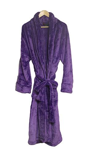 e170d2c374 Purple Bathrobe for Men or Women