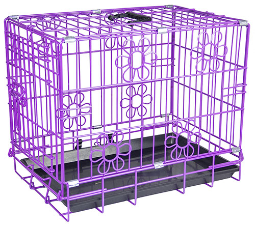 purple dog crates