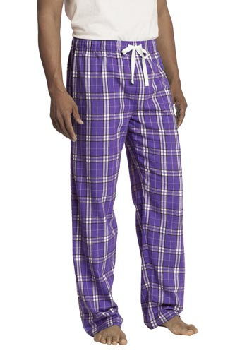 Plaid Purple Mens Pajama Pants