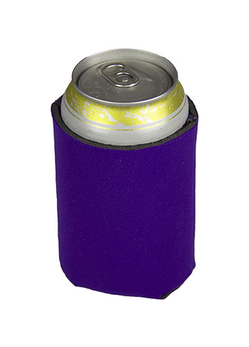 Purple Koozie Beer Coozie An insulated wrap that holds a can of beer. purple koozie beer coozie
