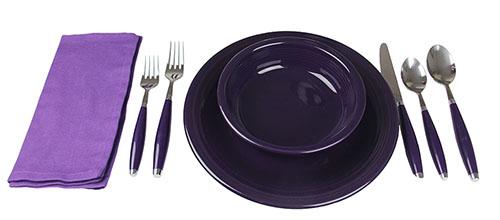 sc 1 st  The Purple Store & Purple Flatware Fiesta Sets