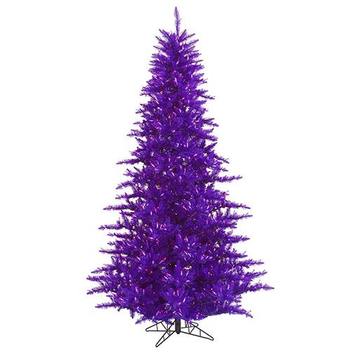 - 3-Foot Pre-Lit Purple Tree