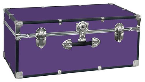 purple storage trunk