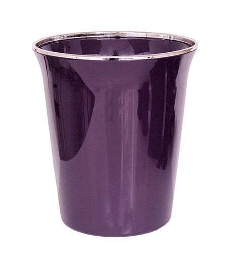 Lovely Regal Purple Trash Can / Purple Garbage Can FB74