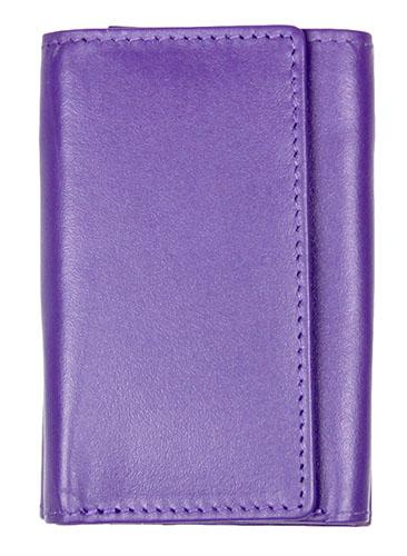 Purple Leather Wallet