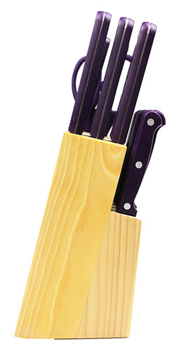 14 piece ginsu purple kitchen knife set. beautiful ideas. Home Design Ideas