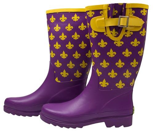 895e50d21bb Fleur de Lis Purple Rain Boots