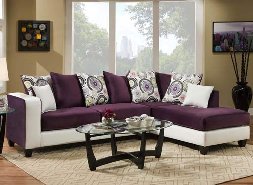 Astounding White And Purple Sectional Sofa Ibusinesslaw Wood Chair Design Ideas Ibusinesslaworg