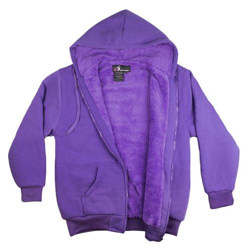 Purple Sherpa Fleece Hoodie Purple Sherpa Fleece Hoodie 0b7fb4319c7a