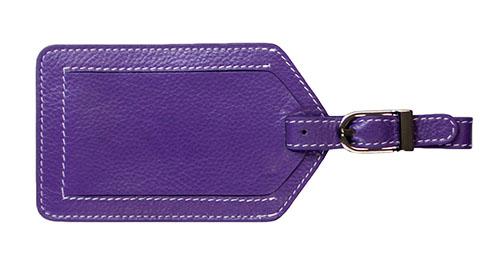 Purple 5343 Classic Purple Travelambo Leather Luggage Bag Tags