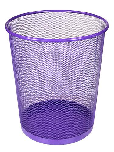 Favorite Metal Purple Trash Can / Waste Basket XA91