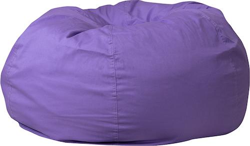 Sensational Oversized Purple Bean Bag Chair Machost Co Dining Chair Design Ideas Machostcouk