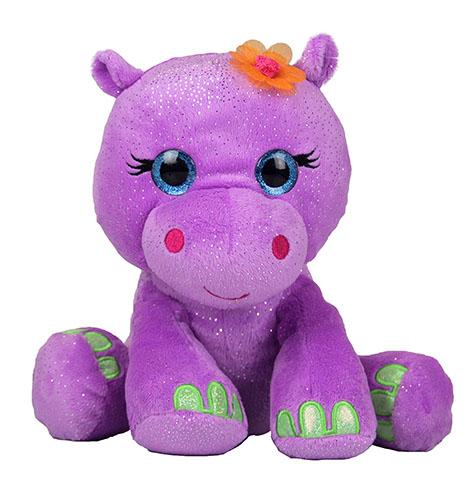 Plush Purple Sparkly Hippo