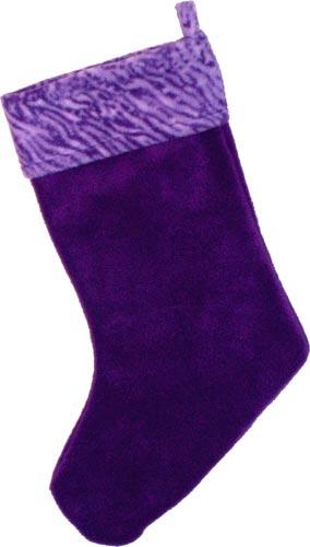 purple christmas stocking with purple lavender jungle print cuff - Purple Christmas Stocking