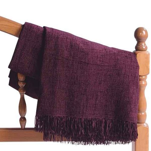 Dark Purple Chenille Throw Blanket Beauteous Purple Chenille Throw Blanket
