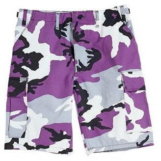 what goes with purple shorts