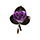 Real Purple Rose Brooch (Pin)