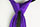 Bright Purple Kids Tie with Zipper