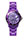 Light Purple Link Watch with Round Face