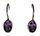 Drop Dangle Silver Amethyst Earrings