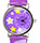 Purple Watch with Flowers, White