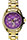 Gold-Toned Purple Face Watch
