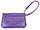 Leather Purple Clutch Wrist Bag