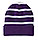 Striped White and Purple Beanie Hat