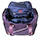 Purple Nylon Underseat Rolling Carry On Tote