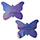 Holographic Lavender Butterfly Pasties
