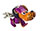 Purple Dog Keychain with Long Nose