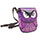 Crossbody Purple Leather Owl Bag