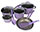 12 Piece Lavender Purple Cookware Set - Subsets Available!