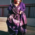 The Purple Store Handmade Purple Gown with Purple Petticoat Laura