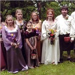 Peter & Randi's Purple LOTR Arwin Bridesmaid