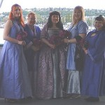 Elisabeth & Kevin's Purple Bridal Party