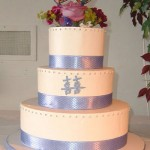 Elisabeth & Kevin's Purple and Lavender Wedding Cake