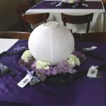 Elisabeth & Kevin's Purple Wedding Reception Tables
