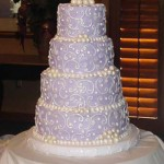 Buttercream Iced 4-Tier Purple Cake