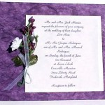 Purple Wedding Invitation