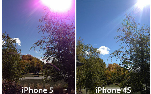 Purple iPhone Lens Flare Picture