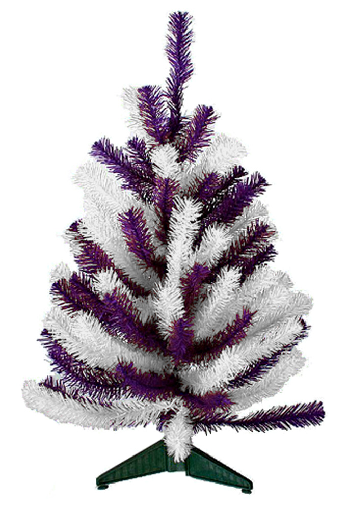 Tree In Purple And White Or Purple And Gold K State 2ft Xmas Tree_1001px