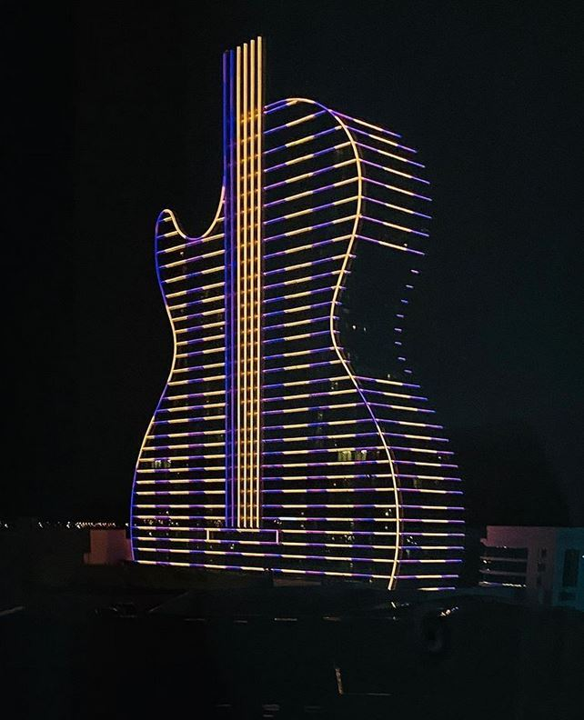 Hard Rock in Florida Purple and Gold for Kobe